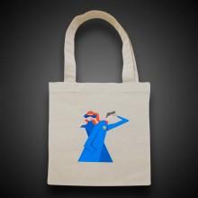 Эко сумка чёрная/красная/синяя. Полноцветная печать.
