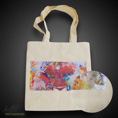 Эко сумка бежевая 35х40 см. Полноцветная печать.