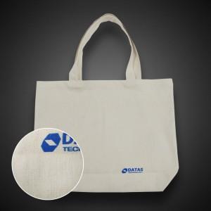 Эко сумка бежевая 35х40 см. Печать в 1-2 цвета.